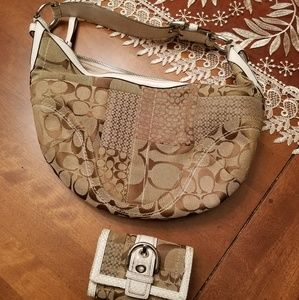 Coach exotics snake skin purse and wallet